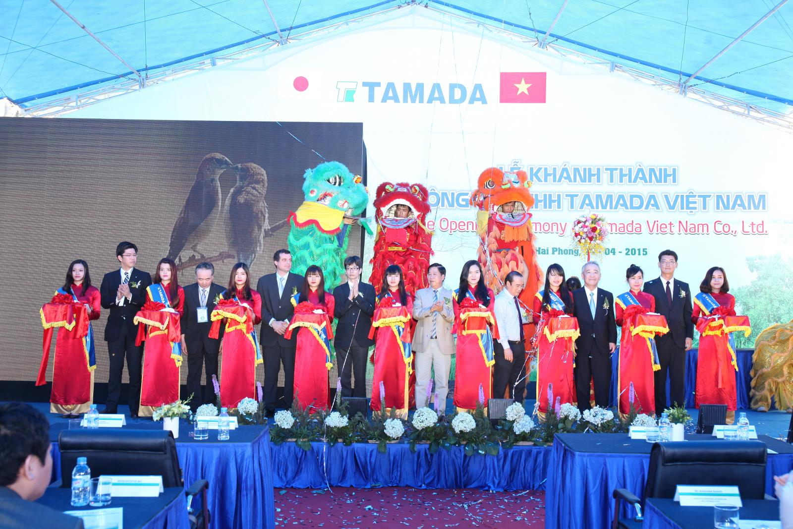 The Opening Ceremony of Tamada Vietnam Co., Ltd.